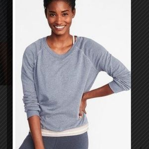 Relaxed Exposed-Elastic French-Terry Sweatshirt